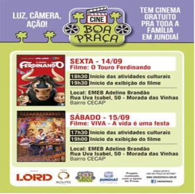 LORD patrocina cinema itinerante em Jundiaí